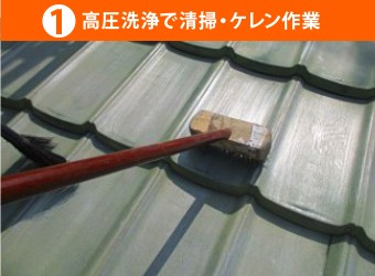 高圧洗浄で清掃・ケレン作業