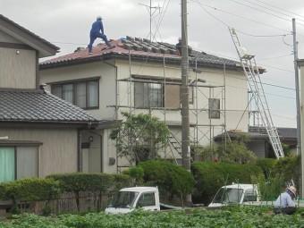 瓦棟積替え工事5