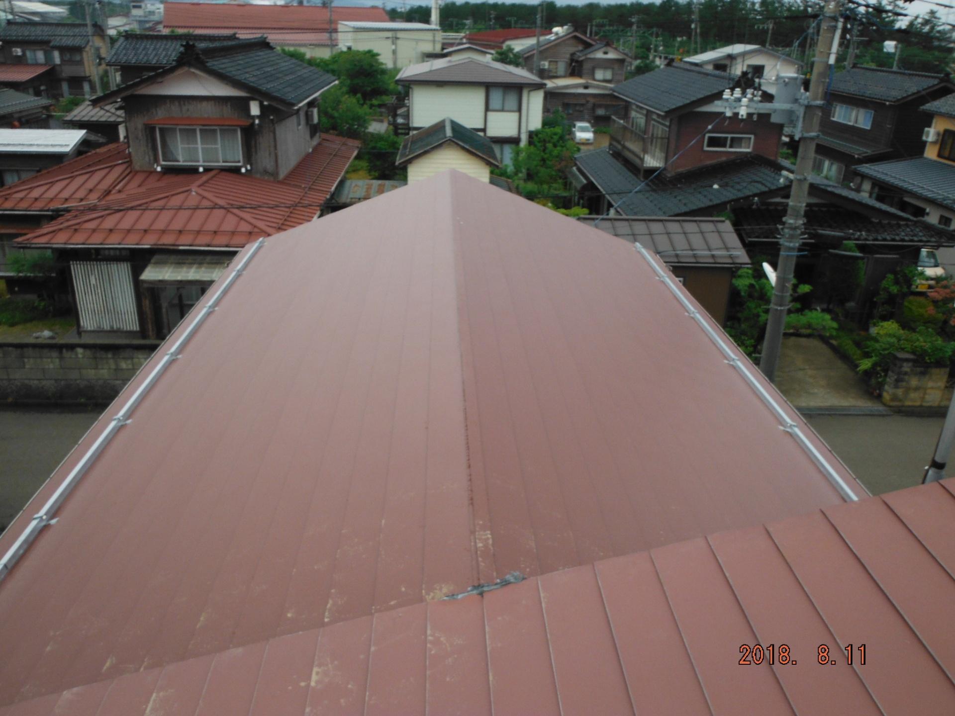 屋根葺き替え完成後