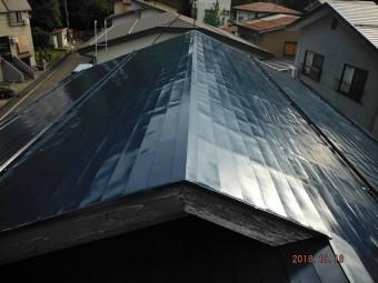 屋根塗装後1
