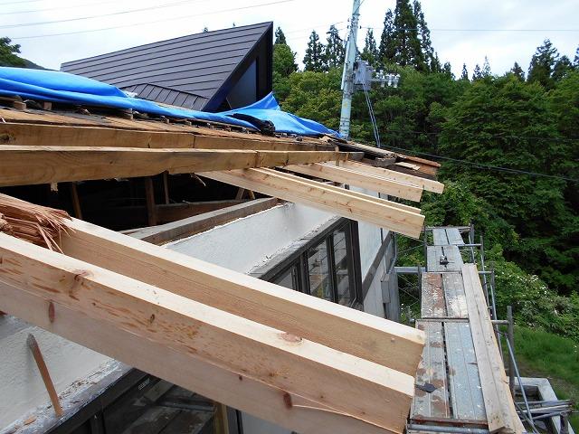 屋根雪害改修3