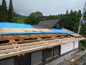 屋根雪害改修4