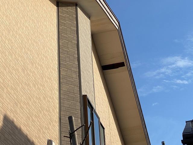 軒天井有孔ボード破損